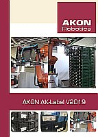 Flyer - AK-Label V2019 | Etikettier Robotersystem - AKON Robotics